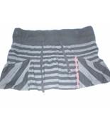 J2811 Juniors FOX Riders Black/Gray Striped Jersey Knit MINI SKIRT Medium - $30.89