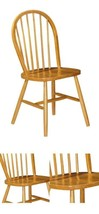 Dining Chairs Pair Solid Pine Wood Classic Country Style Sturdy Kitchen ... - $187.70