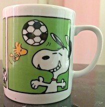 Vintage Peanuts Characters Snoopy Soccer King Mug Cup 1965 10 ounces - $9.99