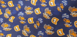 "NFL DENVER BRONCOS LEGACY LOGO COTTON FABRIC FQ - 18"" X 21""...FAST SHIPPING - $7.91"