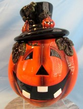 Noble Excellence Jack-O-Lantern 11 Inch Cookie Jar in Box - $48.51