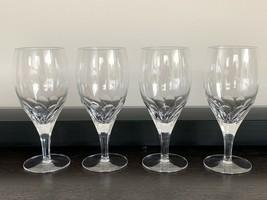Steuben Crystal Set of 4 Petal Water Goblets Glasses - $345.51