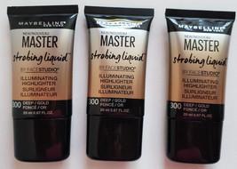 Maybelline Master Strobing Liquid Illuminating Highlighter 300 Deep Gold... - $23.64