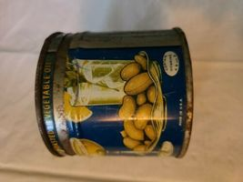 VINTAGE 1938 PLANTERS MR. PEANUT COCKTAIL PEANUTS ADVERTISING EMPTY 8 OZ CAN image 4