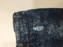 Vip Jeans Acid Wash Skirt Above Knee Regular Fit   Blue Cotton Size 11/12 image 9