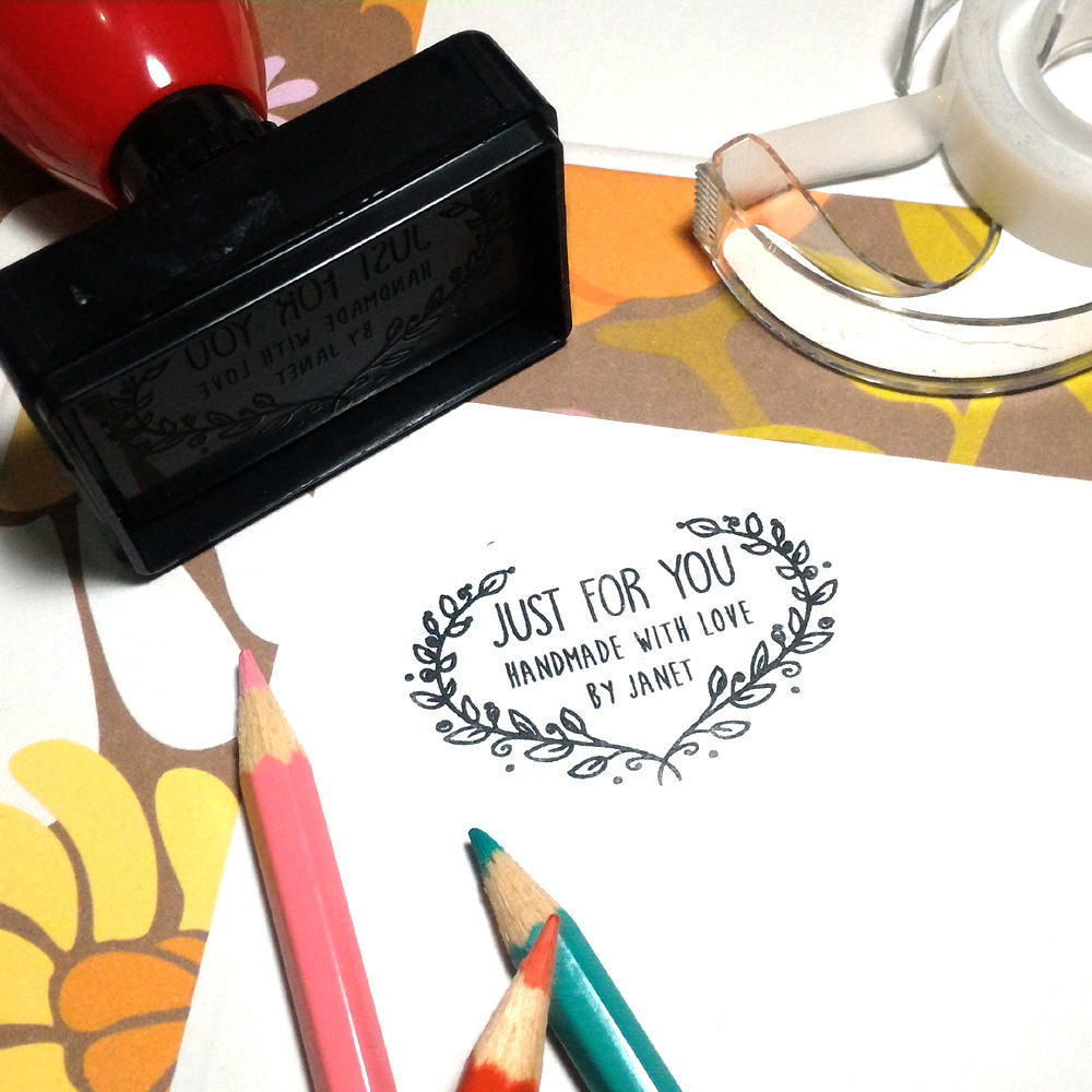 """custom name handcrated by personalized Calligraphy pre ink self inking stamp 2"""""""