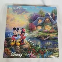 2016 Thomas Kinkade Disney Minnie and Mickey Mouse Kiss 750 Piece Puzzle - $21.84
