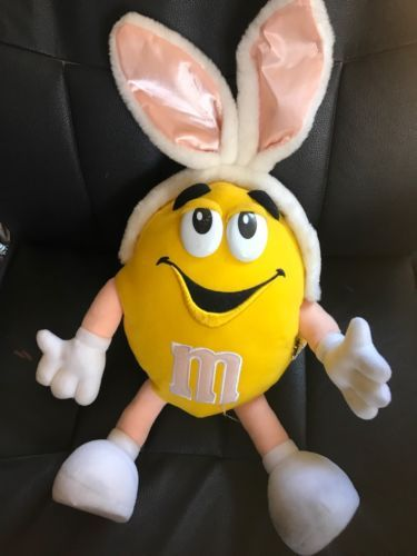 Primary image for Yellow M & M Easter Bunny Plush