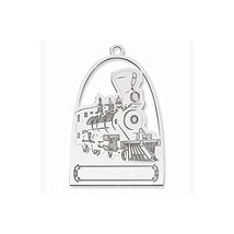 Sterling Silver Blank Christmas Train Ornament - $77.02