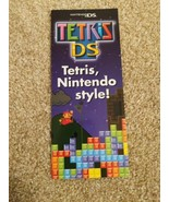 Tetris DS Mario Sign Promo Promotional Pamphlet Store Display Nintendo D... - $19.79