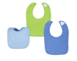 Gerber Baby Boys Solid Dribbler Bibs, One Size, Colors: Blue, Green - $6.99