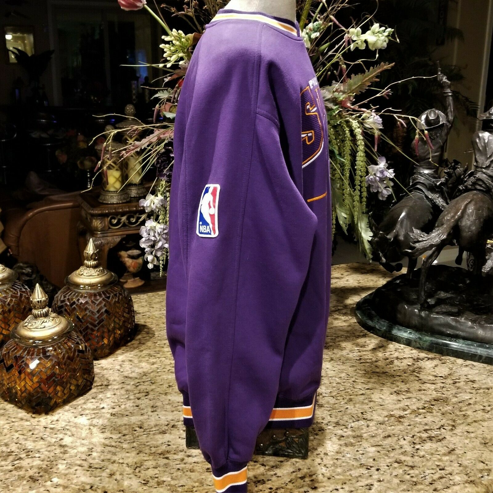 Mens Vintage Lee Sport PHOENIX SUNS Embroidered Logo Purple Sweatshirt Sz XL image 4