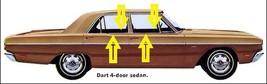 1968 DODGE DART 4-DOOR SEDAN WINDOW BELTLINE WEATHERSTRIP KIT (8 PIECES) - $137.17