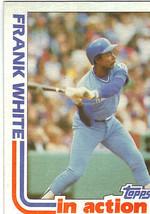1982 Topps Frank White Kansas City Royals #646 Baseball Card - $1.97