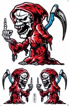 D378 Skull Head Bones Dead Decal Racing Tuning Size 27x18 cm / 10x7 inch - $3.49