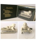 Dept 56 Snowbabies Slip Sliding Away Sled Winter Tales in Box Snow Baby ... - $15.83
