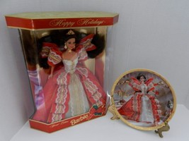 1997 Happy Holidays Barbie Special Edition Doll MIB & Matching Collector... - $19.79