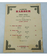 Vintage 1939 Samuel Barber Three Songs for Voice and Piano Sheet Music ... - $28.00