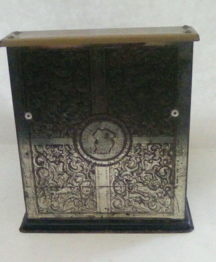 Vintage Benjamin Franklin Metal Toy Cash Register made by Vanguard Industries image 3