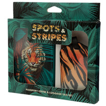 Fun Novelty Big Cat Spots and Stripes Luggage Tag and Passport Cover Set - $18.07
