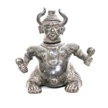 Antique Vintage Old Solid Brass Devil Statue Oil Lamp Collectible Décor ... - $425.25