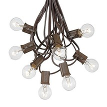 G30 Globe Outdoor String Lights With 25 Clear Globe Bulbs By Novelty Lig... - $21.38
