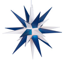 Blue White LED Moravian Star Christmas Decoration Outdoor Indoor Display... - $49.99