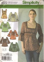 Simplicity 4022 Misses Tunic Tops Size D5 (4, 6, 8, 10, 12) - $15.19