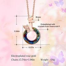 Swarovski Crystal Hollow Round Shaped Rose Gold Necklace image 3
