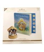Hallmark Gift For Baby Nativity Story Book Ornament Sound & Light Intera... - $19.79