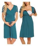 Ekouaer Lace Sleeve Nightgown Comfy Sleepshirts Women's Maternity/Nursin... - $22.21