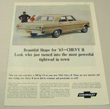 1965 Print Ad Chevy II Nova 4-Dr Sedan Chevrolet 300 HP - $11.58