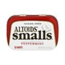 Altoids Mints Smalls Peppermint Sugar Free Tins 0.37 OZ (Pack of 18) - $27.60