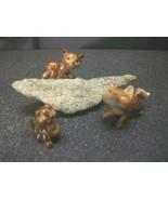 6PC MINIATURE FOX CHIPMUNK BEAR PORCELAIN WILDLIFE FIGURINES ANIMAL FAIR... - $12.00