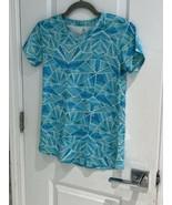 Champion Girls Turquoise Geometric Print Active Short Sleeve Shirt Size ... - $7.57