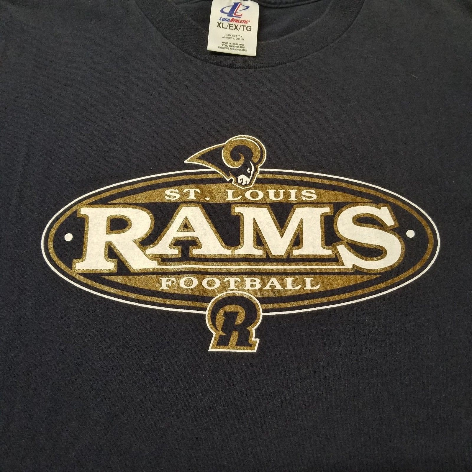 St. Louis Rams NFL Football Mens Size XL Blue Short Sleeve T Shirt image 7