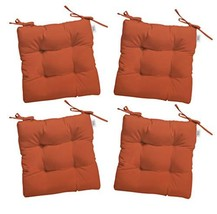 RSH Décor Set of 4 - Indoor/Outdoor Sunbrella Canvas Melon Orange Tufte... - $279.99