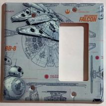 Star Wars Millennium Falcon BB8 BB-8 Switch Outlet wall Cover Plate Home Decor image 12