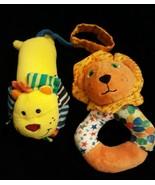 Infantino Infant BABY Boy Girl SOFT TOY Lion Rattle Plush Wrist Hand Ank... - $14.49