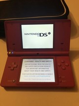Nintendo DSi Pink Handheld Gaming Console With Charger 3 Stylus Zip Up Case - $39.59