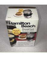 Hamilton Beach Breakfast Sandwich Maker Kitchen Counter Top Press 25475 - $24.97