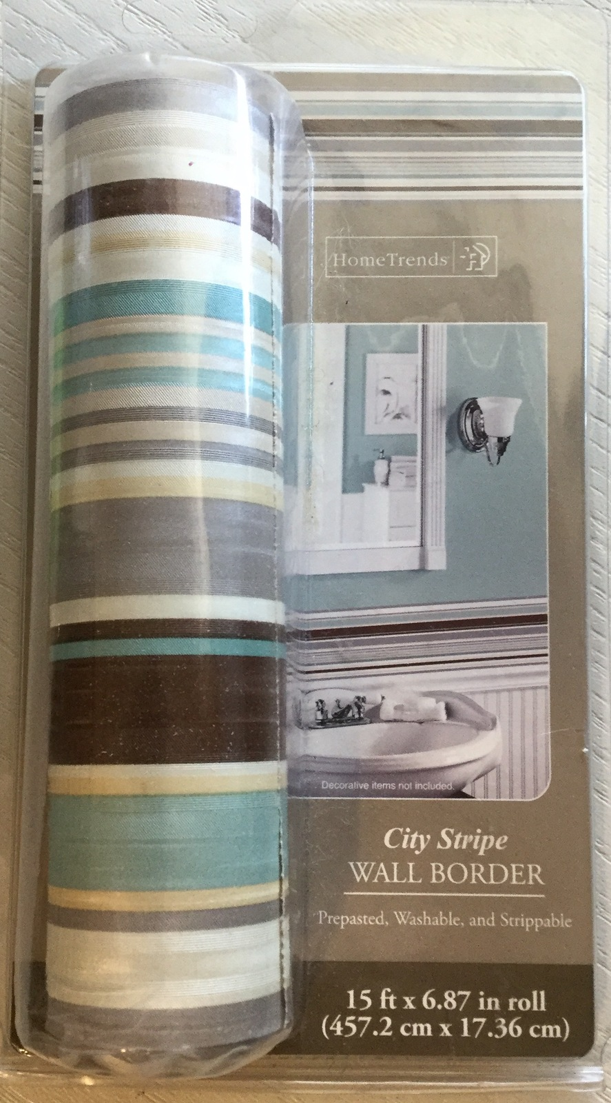Home Trends Wallpaper Border 51740insn City Stripe
