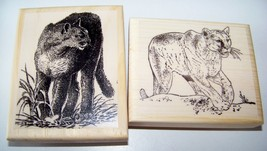 Two Mountain Lions new mounted rubber stamps - $18.00