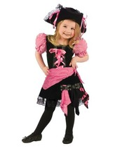 Fun World Girls Pink Punk Pirate Toddler Costume, Multicolor, Small - $26.15