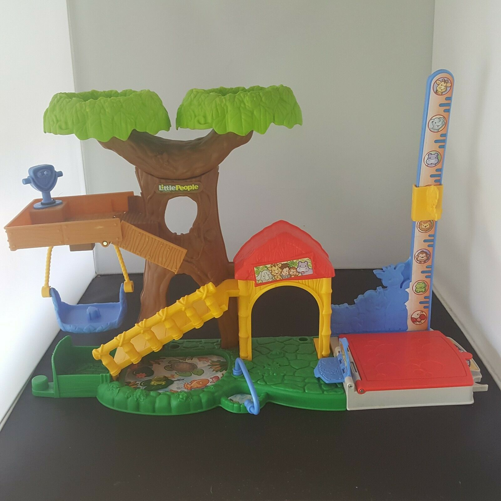 FISHER PRICE 2014 Little People Big Animal Zoo Treehouse ...