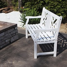 Décor Therapy FR8585 Outdoor Bench, White - £138.27 GBP