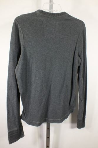 Abercrombie And Fitch Camiseta Talla Mediano M Muscle Gris Gris Manga Larga C37