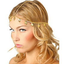 Women Head Chain Headband Gold Leaf Headpiece Jewelry - $15.84