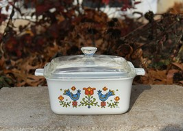 Vintage Corning Ware Country Festival P-4-B Baking Loaf Casserole Dish &... - $39.99