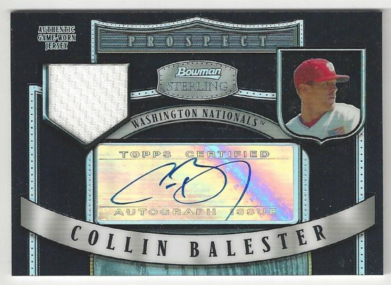 Primary image for 2007 Bowman Sterling Prospects - Collin Balester - #BSP-CB - Game-Worn Jersey
